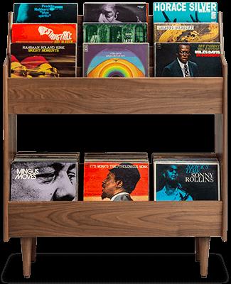 Luxury LP Vinyl Stand in Mid-Century Style