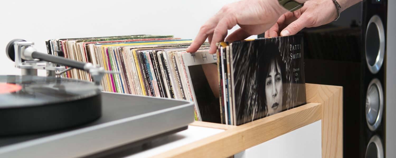 Unison Modern Record Stand